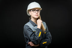 Portrait of a female worker Royalty Free Stock Photo
