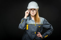 Portrait of a female worker Royalty Free Stock Photography