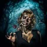 Portrait femelle d'†d'image de Halloween « Photographie stock libre de droits