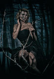 Portrait femelle d'†d'image de Halloween «  Photo stock