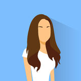 Portrait femelle de femme d'avatar d'icône de profil occasionnel Photo libre de droits