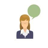 Portrait femelle Person Silhouette Face occasionnel de bande dessinée de femme d'avatar d'icône de profil Image libre de droits