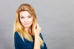 Portrait of feminine blonde young woman Stock Photography