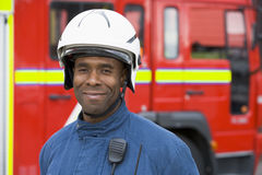 Portrait of a firefighter Royalty Free Stock Photography