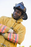 Portrait of a firefighter Royalty Free Stock Image