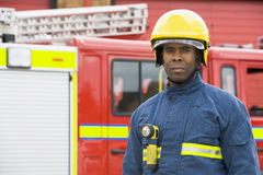 Portrait of a firefighter standing Royalty Free Stock Image