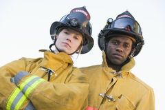 Portrait of firefighters Stock Photos