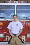 Portrait of a fireman Royalty Free Stock Photos