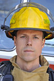Portrait of a fireman Stock Photos