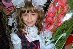 Portrait of the first-grader Royalty Free Stock Photos
