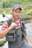 Portrait of fisherman royalty free stock photo