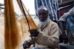 Portrait of fisherman Stock Images