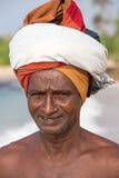 Portrait fisherman in South Sri Lanka Stock Photo
