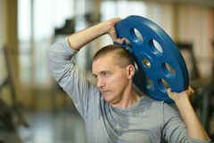 Portrait of fit man Stock Images