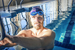 Portrait of a fit swimmer Royalty Free Stock Photo