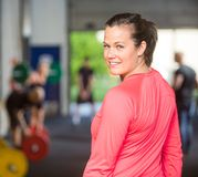 Portrait Of Fit Woman At Healthclub Stock Photo