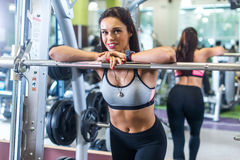 Portrait of fit woman smilling looking at camera. Stock Photography