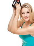 Portrait with fitness Accessories Stock Image
