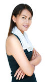 Portrait fitness asian woman Stock Photo