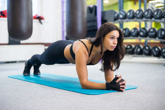 Portrait fitness training athletic sporty woman Stock Photos