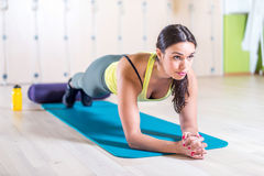Portrait fitness training athletic sporty woman Royalty Free Stock Images
