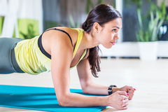 Portrait fitness training athletic sporty woman Royalty Free Stock Photo