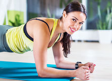 Portrait fitness training athletic sporty woman Stock Photo