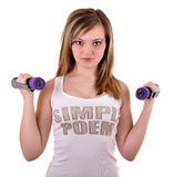 Portrait of fitness woman Royalty Free Stock Images
