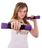 Portrait of fitness woman Royalty Free Stock Image