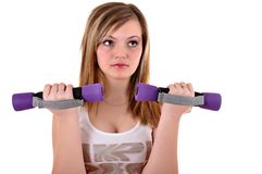 Portrait of fitness woman Stock Image
