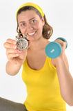 Portrait of fitness woman stock photography