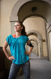 Portrait of fitness woman looking into distance Royalty Free Stock Photography