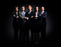Portrait of five business people standing Stock Images