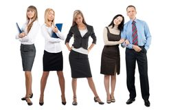 Portrait of five confident businesspeople Stock Images