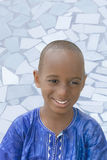 """Portrait of a five-year-old boy wearing a blue """"boubou"""" Royalty Free Stock Image"""