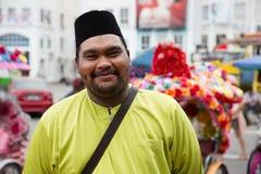 Portrait of an flamboyant man, Malacca Stock Photo
