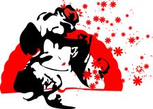 Portrait of flamenco dancer Stock Photos