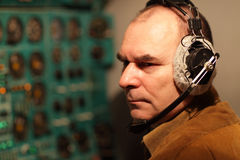 Portrait of flight engineer Stock Photography