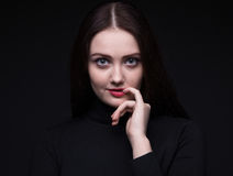 Portrait of flirting woman Royalty Free Stock Photos