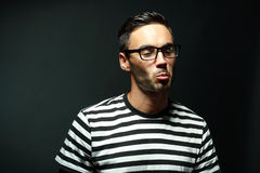 Portrait fo man in glasses Royalty Free Stock Image