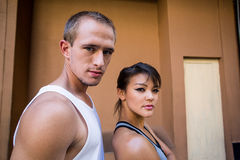 Portrait of a focused couple Royalty Free Stock Photography
