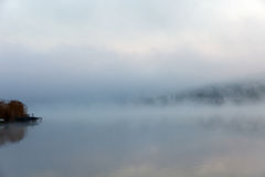 Portrait of a foggy lake Royalty Free Stock Photos