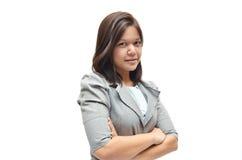 Portrait fonctionnant de femme d'affaires Image stock