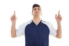 Portrait of a football player cheering Royalty Free Stock Image