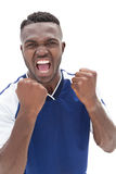 Portrait of a football player shouting Royalty Free Stock Photo