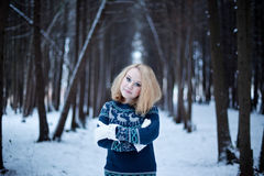 Portrait in forest Stock Photo