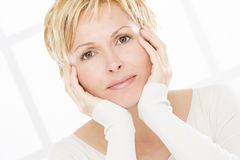 Portrait of forty years woman Royalty Free Stock Photo