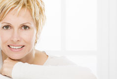 Portrait of forty years woman Stock Image