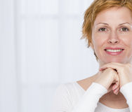 Portrait of forty years woman Royalty Free Stock Image