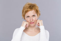Portrait of forty years woman Royalty Free Stock Photography